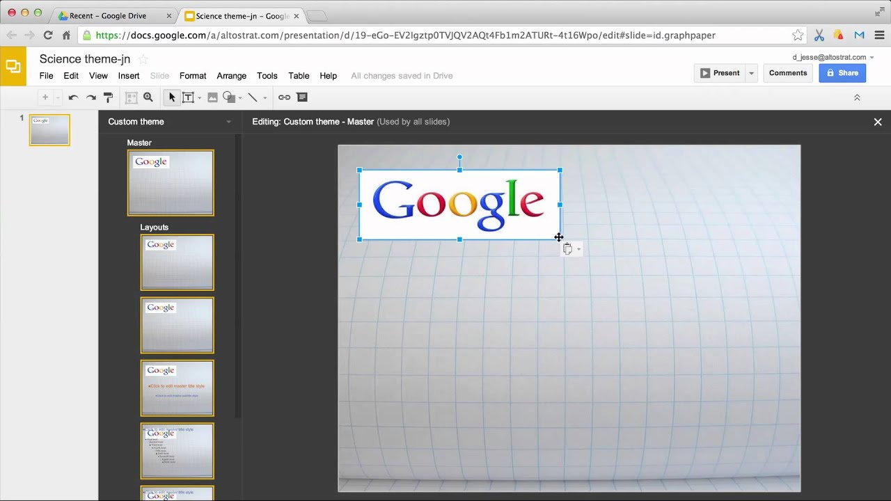 Google interactive themes