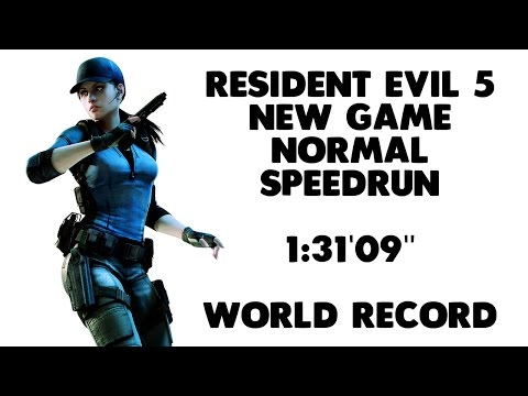 "Resident Evil 5 - New Game Speedrun - 1:31'09"" [World Record]"