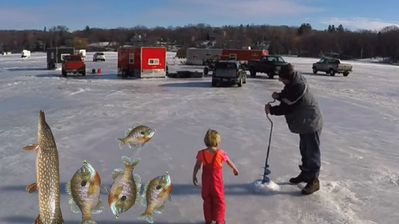 Ice fishing on lake minnetonka carsons bay put the go pro for Ice fishing reports mn