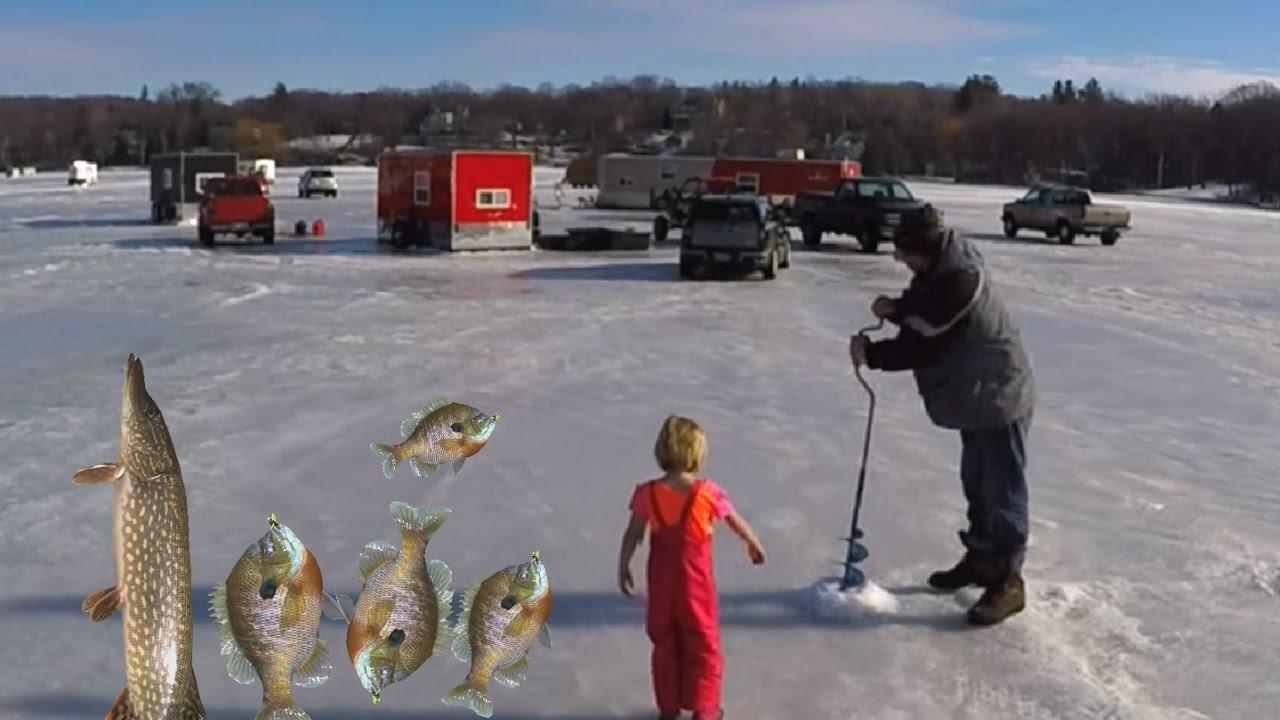 Ice fishing on lake minnetonka carsons bay put the go pro for Lake minnetonka fishing report