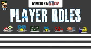 Player Roles - MADDEN NFL 07