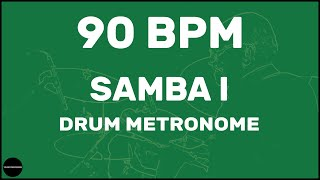 Samba | Drum Metronome Loop | 90 BPM