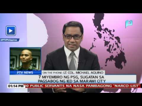 7 miyembro ng PSG, sugatan sa pagsabog ng IED sa Marawi City