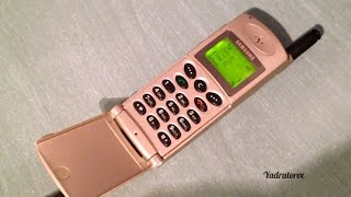 Samsung SGH-600 retro review (old ringtones). Vintage flip phone from 1999