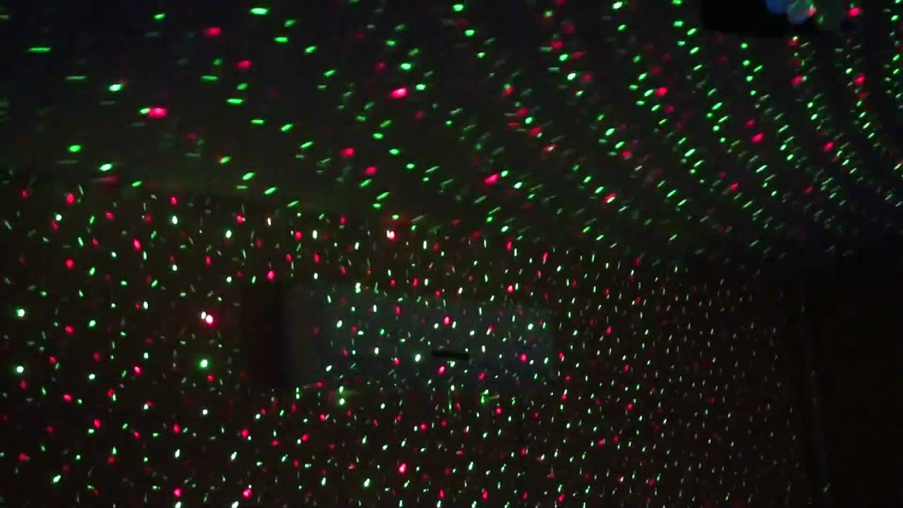 Mini laser stage lighting - YouTube
