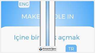 Make A Hole In Nedir? Make A Hole In  İngilizce Türkçe Anlamı Ne Demek? Telaffuz