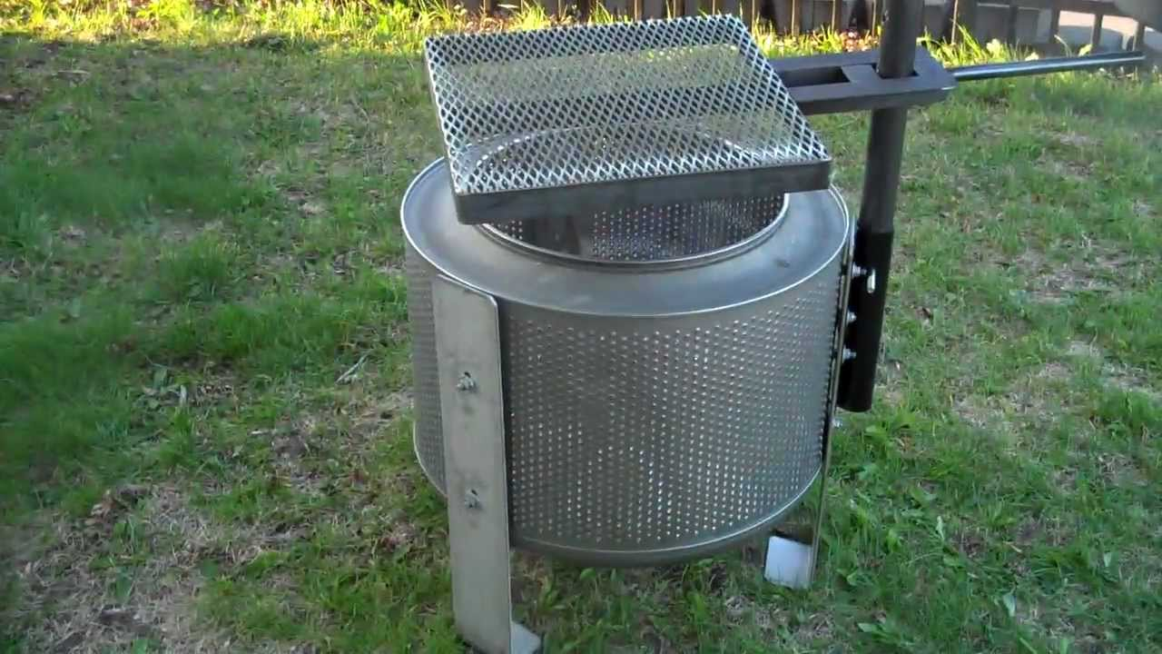 WASHER DRUM FIRE PIT - HigleyMetals.com - YouTube