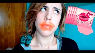 Probando un parche coreano para labios!! (Berrisom SOS! Lip Patch)