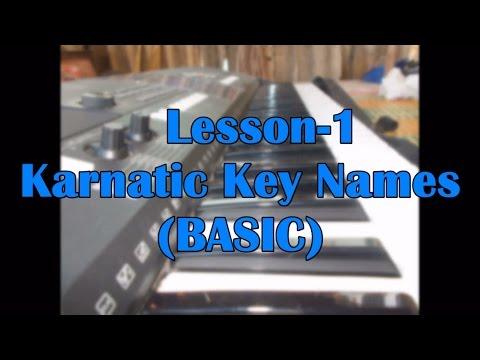 Key Names(Karnatic ) -lesson 1 | Keyboard CLass In Tamil