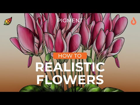 Coloring Tutorial: How to Create Realistic Flowers Using Pigment