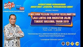 """Live Event - Penyerahan Piala Menteri Perhubungan Republik Indonesia 11 Oktober 2019"""""""