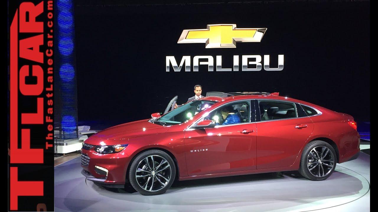 2016 Chevy Malibu: 2015 New York Auto Show One Take - YouTube