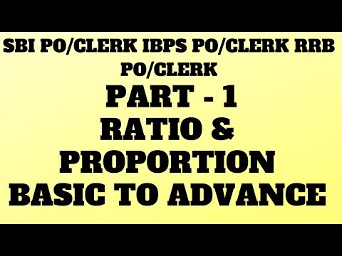 RATIO AND PROPORTION BASIC TO ADVANCE