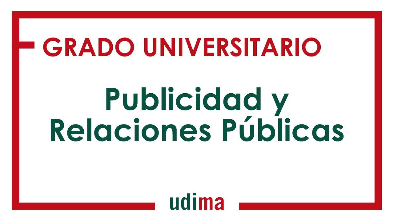 Grado En Publicidad Y Relaciones Públicas Udima