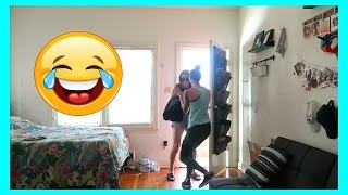 PRANK  SCARING THE CRAP OUT OF MY GIRLFRIEND...