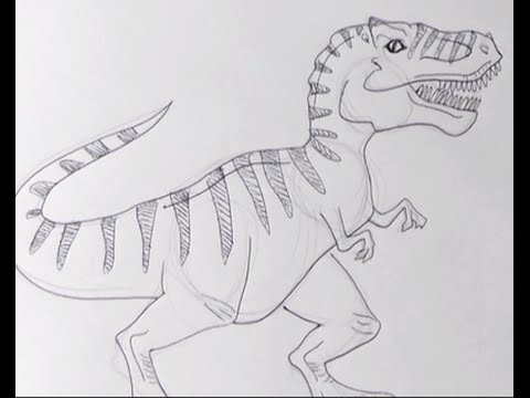 Disegnare Un Tirannosauro Rex Trex Youtube