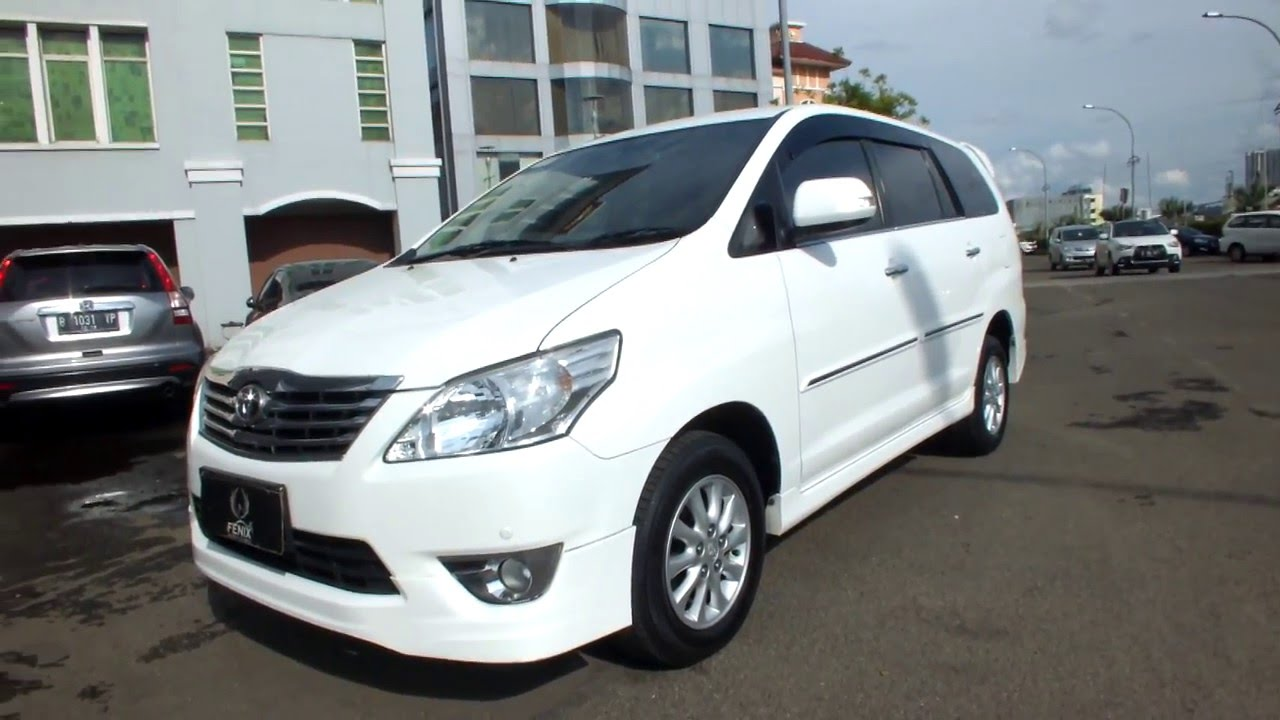 TOYOTA INNOVA V LUXURY A T 2012 White 207000000 KREDIT YouTube
