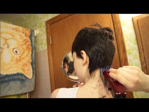 how to cut and style short hair giving myself new hair 7113 | hqdefault