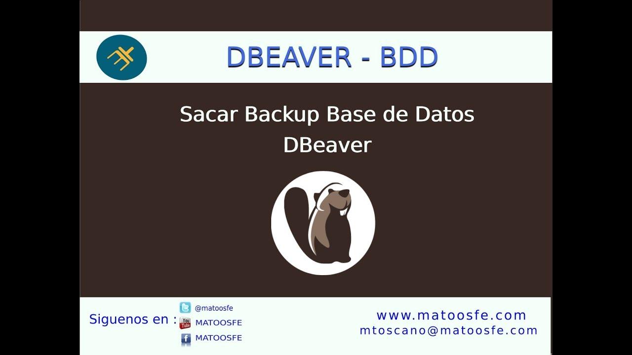 Curso DBeaver - Sacar un respaldo de la base de datos