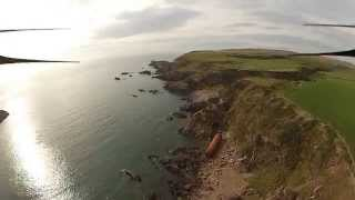 Dunskey Castle, Portpatrick and Mull of Galloway FPV Scotland