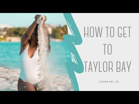 HOW TO GET TO TAYLOR BAY BEACH | Turks & Caicos | LoveFari_Di