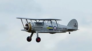 RC Big Scale , Gloster Gladiator , Doppeldecker , Modellflugtreffen Damelang 2014 *HD*