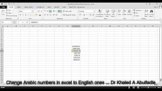 Change Arabic numbers in Excel into English ones (10-2014) by Dr Khaled A Abulfadle