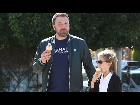 Ben Affleck Takes Violet Out For Ice Cream