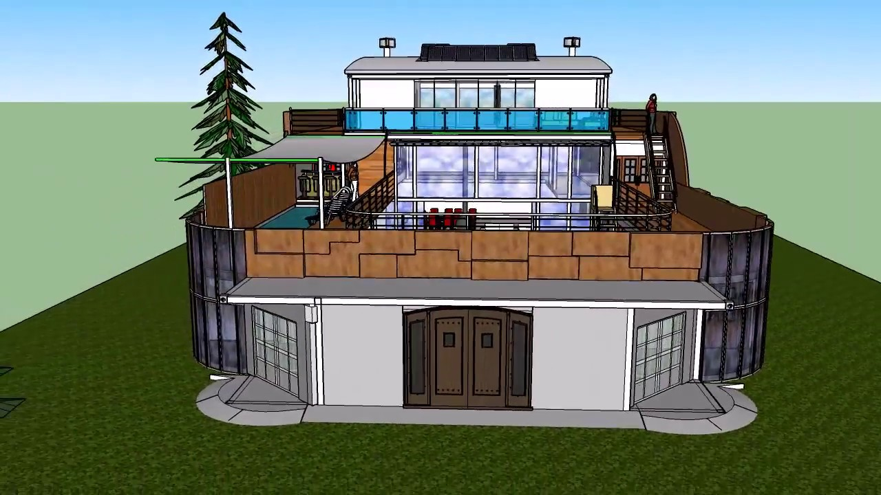 Shipping container home with courtyard ii youtube - Bithcin shipping container house ii ...