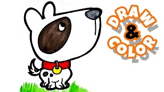 Drawing and Coloring for Kids: Cute Dog and Meatball Spaghetti Painting for Kids