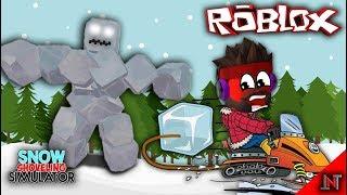 ROBLOX indonesia #105 Snow Shoveling Simulator | Ice Cube boss di Tampar ES Batu
