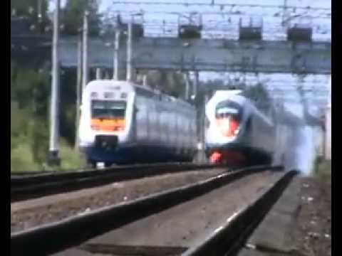 Смотреть Встреча трех поездов: Сапсан, Аллегро и ТЭП70-бс онлайн