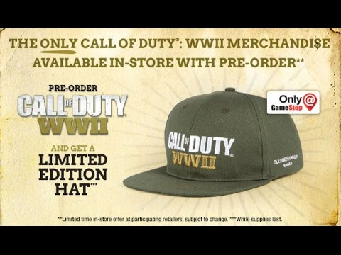 HOW TO GET A FREE LIMITED EDITION CALL OF DUTY WWII HAT