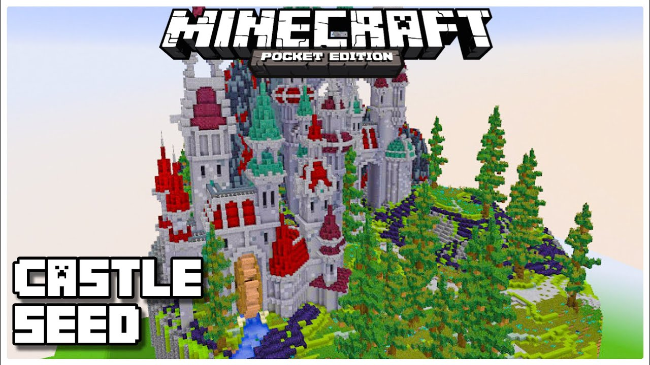 NEW* Castle at *SPAWN* Seed in Minecraft Pocket Edition (Bedrock