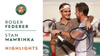 Roger Federer vs Stan Wawrinka - Quarterfinals Highlights | Roland-Garros 2019