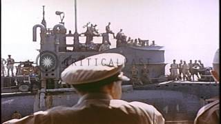 Japanese I-400 class submarine  I-400 (boat 5231), surrendered to US military boa...HD Stock Footage