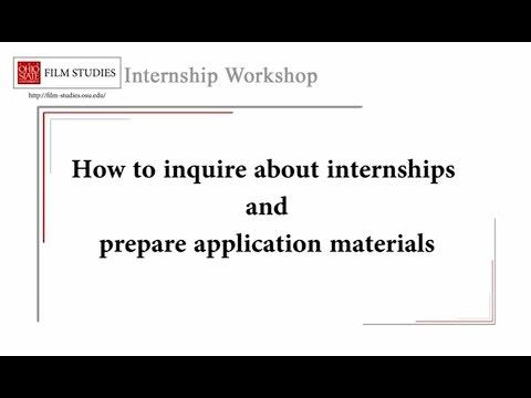 Internship Workshop
