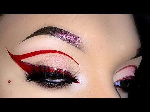 Red Cut Crease / Cat Eye Makeup Tutorial