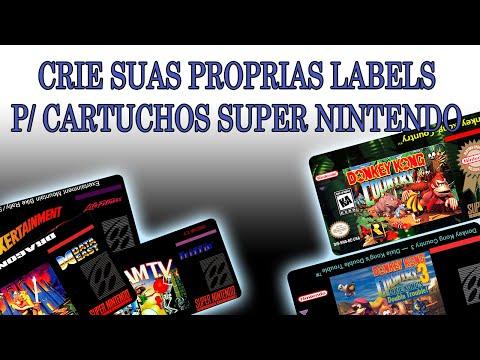Tutorial Como Fazer Labels P/ Cartuchos Super Nintendo