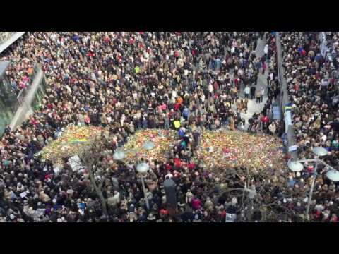 Thousands Turn Out For Social Media-Organized Rally at Stockholm Attack Site