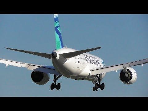 Air Austral Boeing 787 Dreamliner landing at Birmingham Airport, BHX - 18-04-18