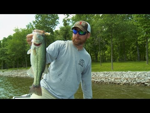 Paralleling Rip Rap for Bass Fishing Success