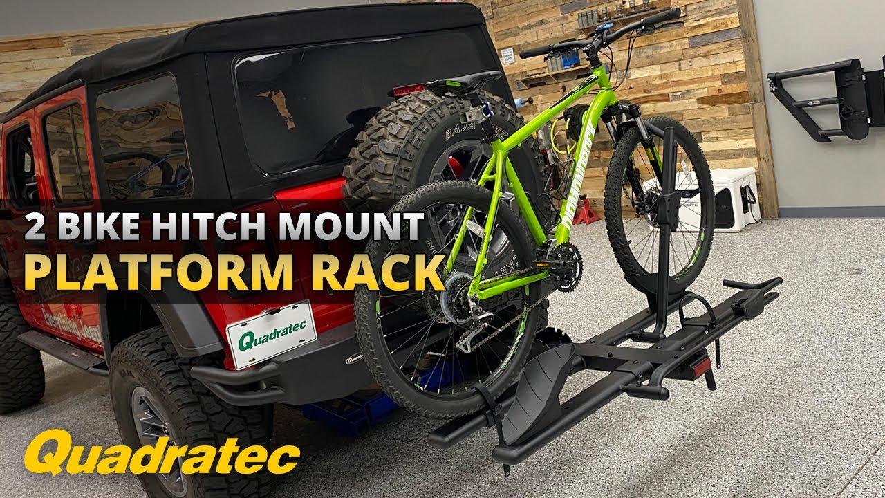 quadratec 2 bike platform rack for 2 receiver hitches