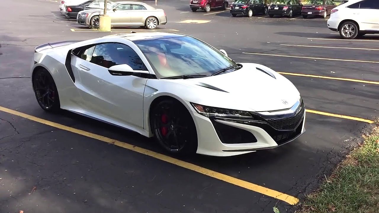 130R WHITE 2017 ACURA NSX WALK AROUND - YouTube