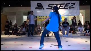 ミサキ (STREET DANCE STUDIO ZERO)  vs れお☆(BEAT SOLDIER) DANCE@LIVE 2014 KIDS HOKKAIDO vo.1【SEMIFINAL】