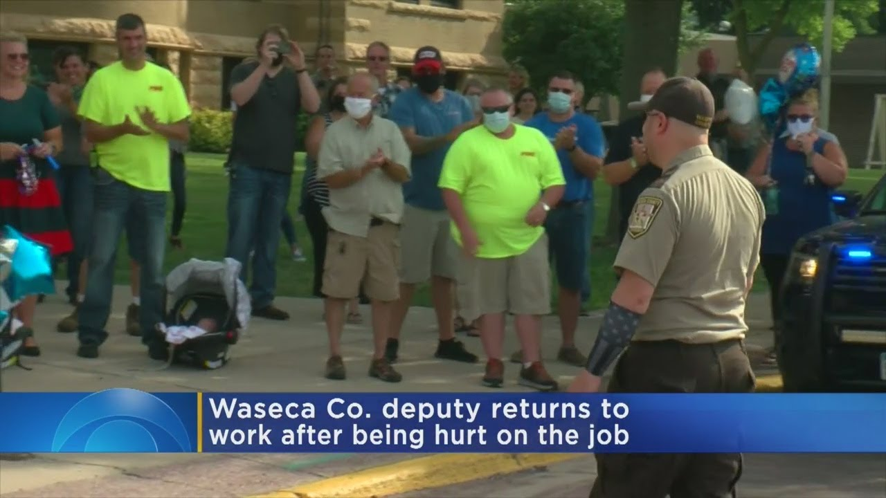 Waseca Deputy Returns To Work Months After On-The-Job Injury