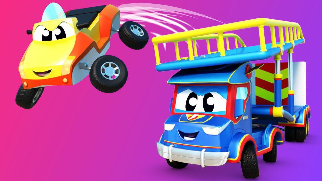 O CAMINHÃO DE TRANSPORTE salva o JETSKI! - Cidade do Carro - Desenhos animados infantis