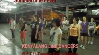 SUMMERTIME FEVER ( Kevin & Maria Smith ): KENYALANG Line Dancers @ 5.7.11 YouTube Videos