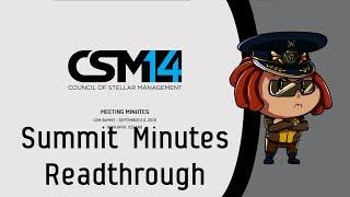 CSM 14 First Summit Minutes Read through