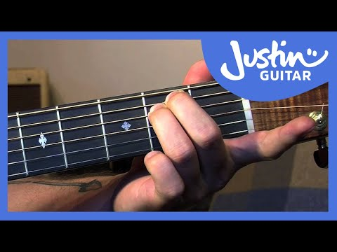 fingerstyle minor chord scale relations - folk guitar lesson - justinguitar